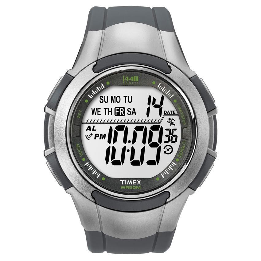 Timex T5K2389J Men's 1440 Sports Digital Sport Grey/ Silvertone Watch