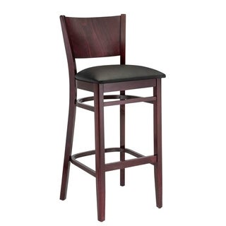 Hendrix Dark Mahogany and Cream Beech Wood Barstool