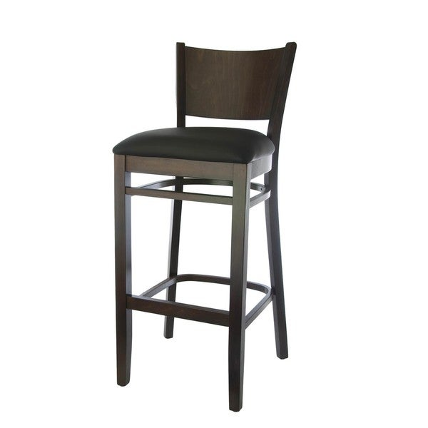 Hendrix Walnut and Black Beech Wood Barstool