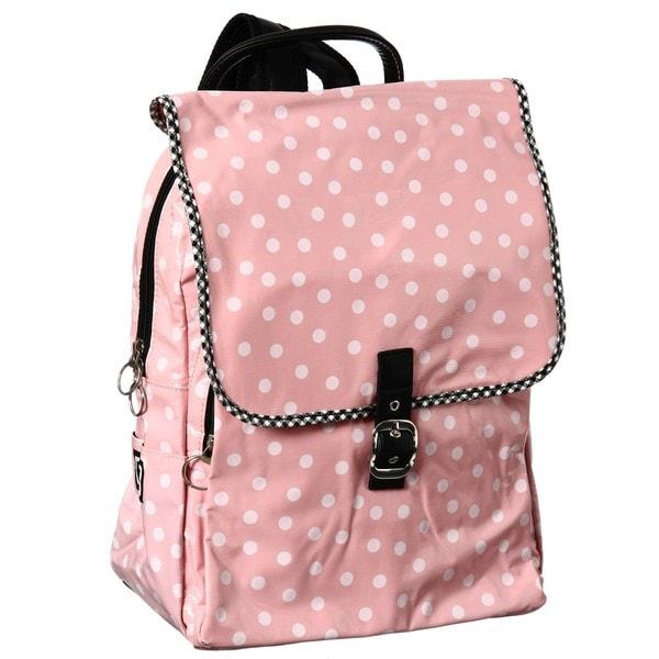 Flee Bags Pink/ White Polka