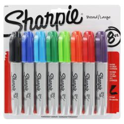 Sharpie Assorted 5.3 mm Chisel Tip Permanent Markers (Pack of 8)