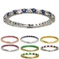 Beverly Hills Charm 10k Gold Gemstone Stackable Eternity Band