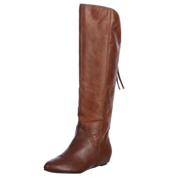 Steven Women's 'P-Lass' Cognac Knee-high Boots