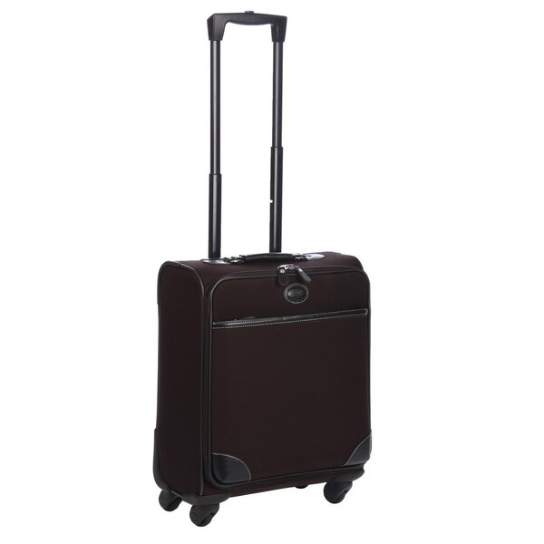 Brics Pronto Brown 20-inch Wide-body Carry-On Spinner Upright