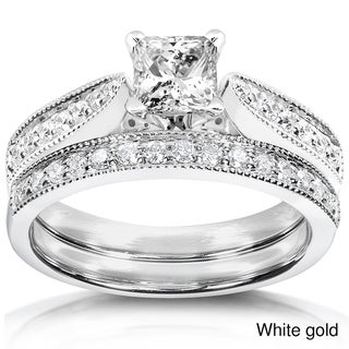 Annello 14k Gold 4/5ct TDW Diamond Bridal Ring Set (H-I, I1-I2)