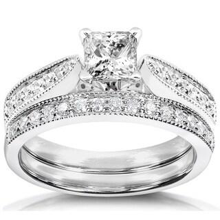 Annello 14k Gold 4/5ct TDW Diamond Bridal Ring Set (H-I, I1-I2) with Bonus Item
