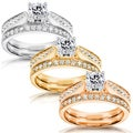 Annello 14k Gold 4/5ct TDW Diamond Bridal Rings Set (H-I, I1-I2)
