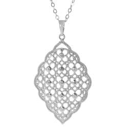 Journee Collection Silvertone Cubic Zirconia Ornate Necklace