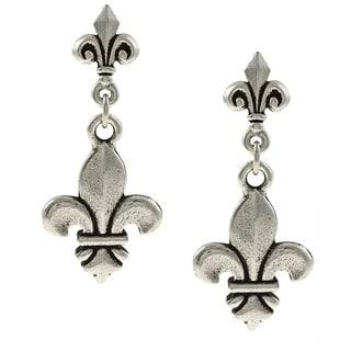 MSDjCASANOVA Tierracast Double Fleur-de-lis Earrings