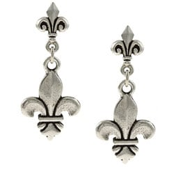 MSDjCASANOVA Tierracast Double Fleur-de-lis Earrings