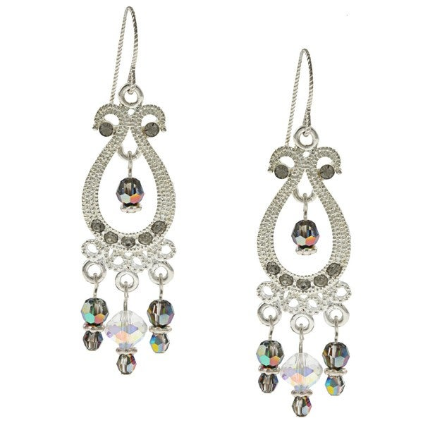 Tierracast Twilight Black Crystal Chandelier Earrings