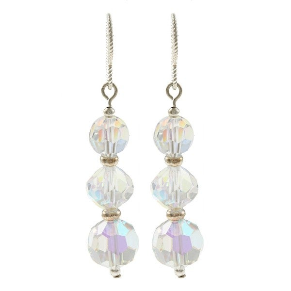 MSDjCASANOVA Triple Sparkle Crystal Earrings