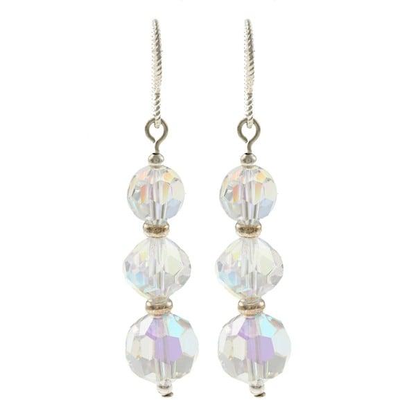 MSDjCASANOVA Triple Sparkle Crystal Earrings