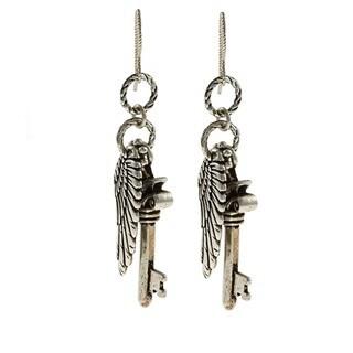 MSDjCASANOVA Tierracast Angel Wing Key Dangle Earrings