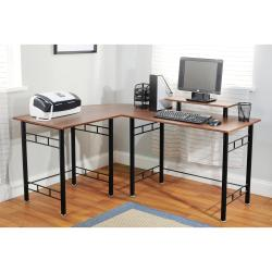 L-shaped Espresso Computer Desk