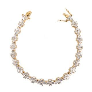 NEXTE Jewelry Goldtone Cubic Zirconia T-Shape Tennis Bracelet