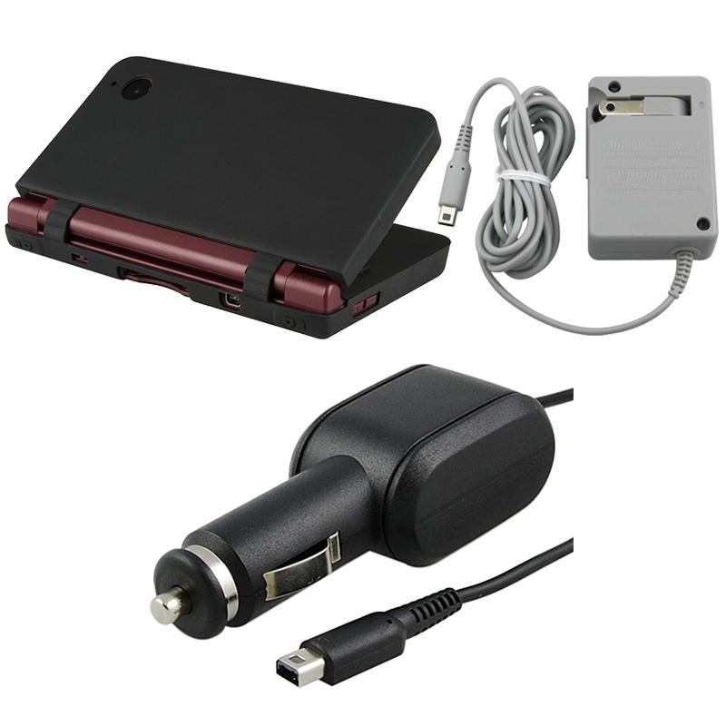 INSTEN 3-piece Case Cover/ Car and Travel Charger for Nintendo DSi LL/ XL