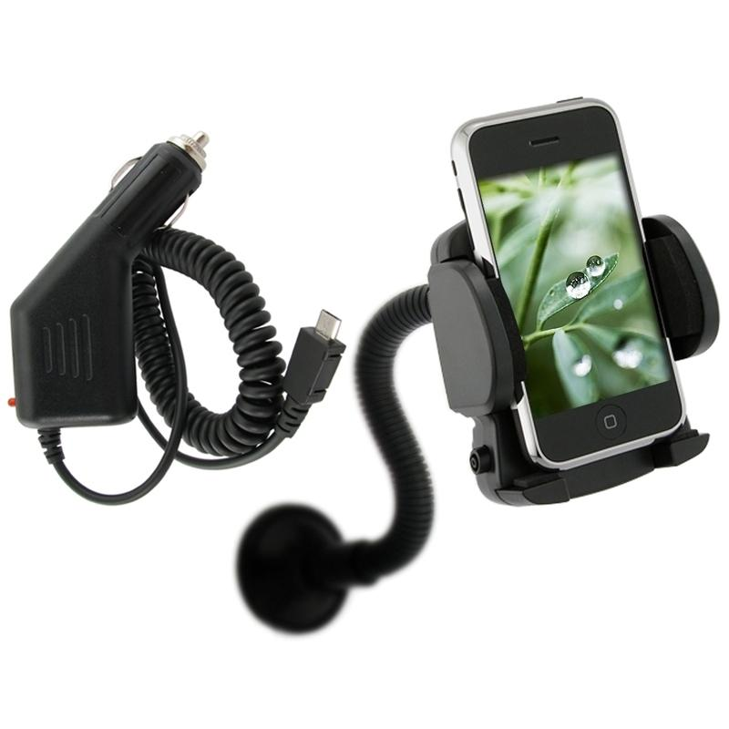 INSTEN Car Charger/ Mounted Holder for Samsung Fascinate Galaxy S