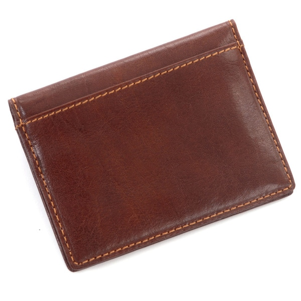 Tony Perotti Leather Ultimo Mens ID Window Handmade Italian Leather Weekend Travel Wallet