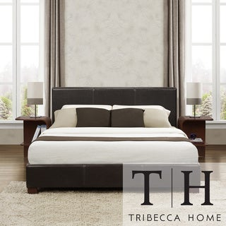 TRIBECCA HOME Hermes Dark Brown Queen-size Platform Bed