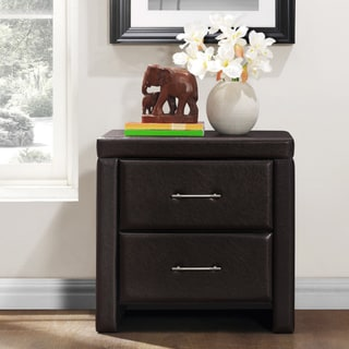 TRIBECCA HOME Hermes Bi-cast Vinyl Nightstand