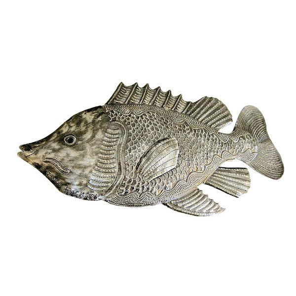 Handcrafted Recycled Steel Drum Fish Wall Art (Haiti)