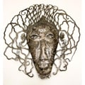 Recycled Steel Drum Rasta Man Mask Wall Art (Haiti)
