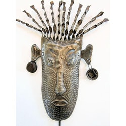 Recycled Steel Drum Shaman Mask Art (Haiti)