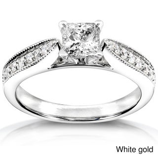 Annello 14k White Gold 5/8ct TDW Diamond Engagement Ring (H-I, I1-I2)