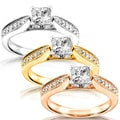 Annello 14k Gold 5/8ct TDW Diamond Engagement Ring (H-I, I1-I2) with Bonus Item