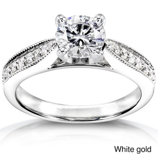 Annello 14k White Gold 1 1/6ct TDW Diamond Engagement Ring (H-I, I1-I2)