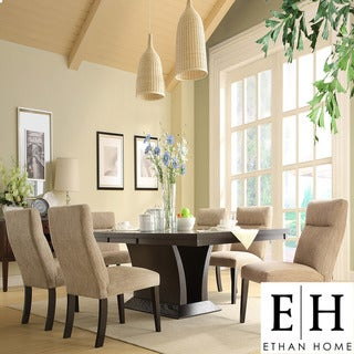 ETHAN HOME Charles Espresso 7-piece Contemporary Dining Set