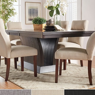 TRIBECCA HOME Charles Espresso Contemporary Extending Dining Set