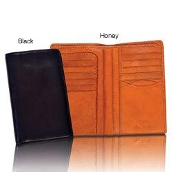 Tony Perotti Prima Unisex Italian Leather Checkbook Organizer Wallet