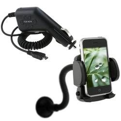 Car Charger/ Mounted Holder for Samsung Captivate SGH-i897