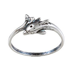 Silvermoon Sterling Silver Dolphin Ring