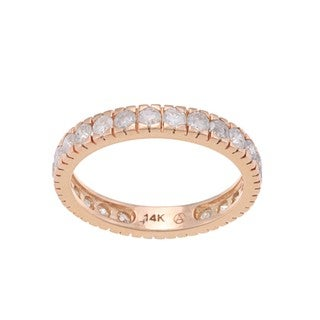 Beverly Hills Charm 14k Gold 1 1/4ct TDW Diamond Wedding Band (H-I, I2-I3)