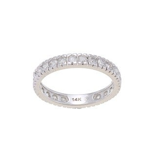 Beverly Hills Charm 14k White Gold 1 1/4ct TDW Diamond Wedding Band (H-I, I2-I3)