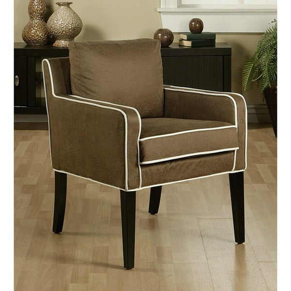 Marquee Microsuede Two-tone Brown Club Chair