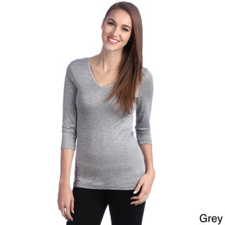 24/7 Comfort Apparel Women's Reversible 3/4-Sleeve Top