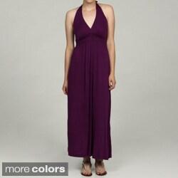 24/7 Comfort Apparel Women's Halter Maxi Dress