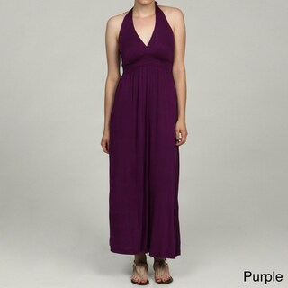 24/7 Comfort Apparel Women's Halter Maxi Dress