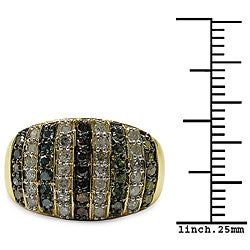 Malaika Gold-Plated 7/8ct TDW Multi-Color Diamond Cocktail Ring