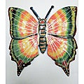 Recycled Steel Drum Painted Butterfly Wall Art (Haiti)