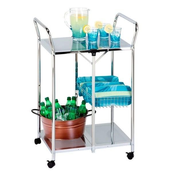 Honey Can Do CRT-01703 Chrome Folding Utility Table 8182867