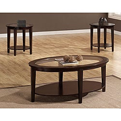 Oval 3-piece Table Set