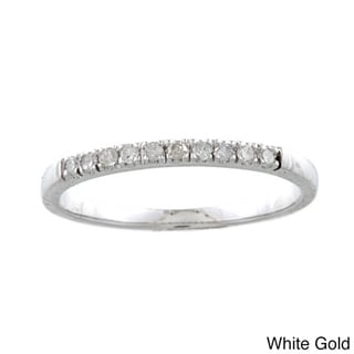 10k Gold 1/5ct TDW Diamond Wedding Band (G-H, I1-I2)