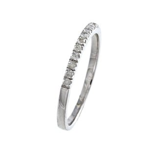 10k White Gold 1/5ct TDW Diamond Band (G-H, I1-I2)