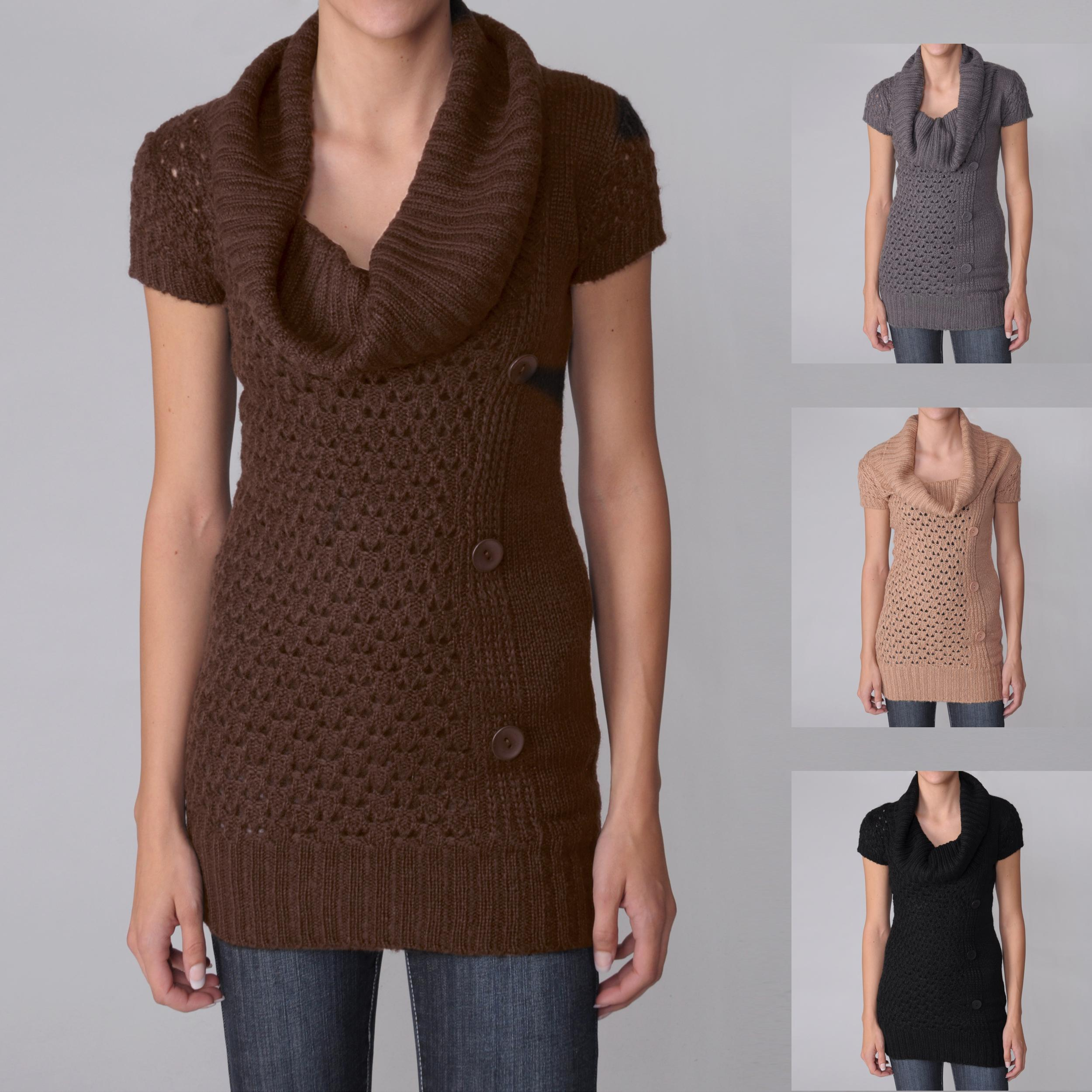 Ci Sono by Adi Juniors Cowlneck Sweater Tunic