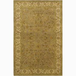 Hand-knotted Mandara Oriental New Zealand Wool Rug (5' x 7'6)